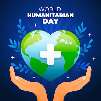 Flat design world humanitarian day