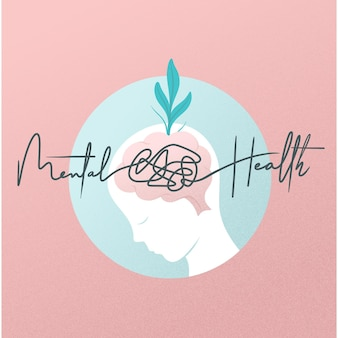 Flat design world mental health day concept