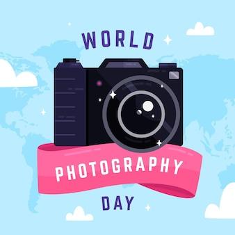 평면 디자인 세계 사진의 날 개념