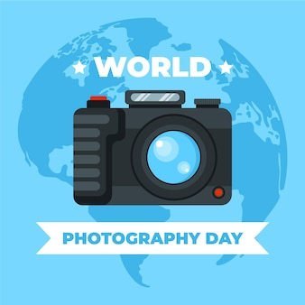 フラットデザインの世界写真の日
