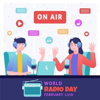 평면 디자인 세계 라디오의 날
