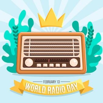 Giornata mondiale della radio design piatto