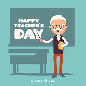 평면 디자인 세계 교사의 날 배경