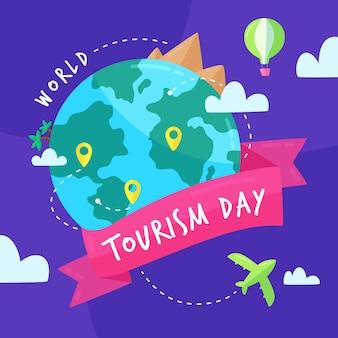 Concetto di design piatto giornata mondiale del turismo