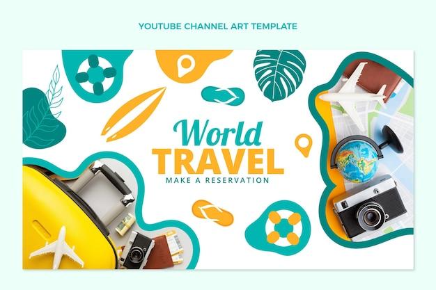 Canale youtube di viaggi nel mondo dal design piatto