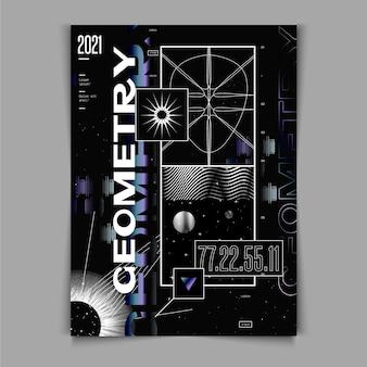 Design piatto del poster y2k