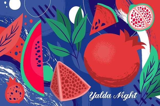 Flat design yalda background