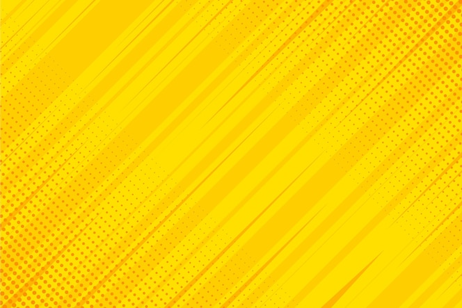 Flat design yellow comics background