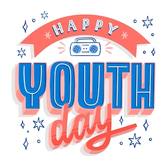 Flat design youth day concept