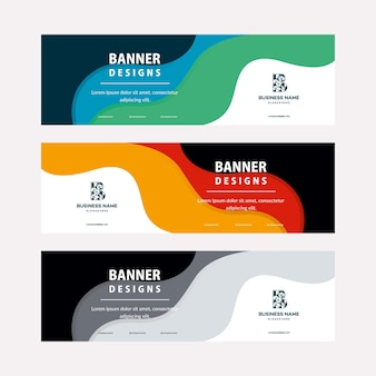 Flat designs web banners template with diagonal elements for a photo. universal design for advertising business