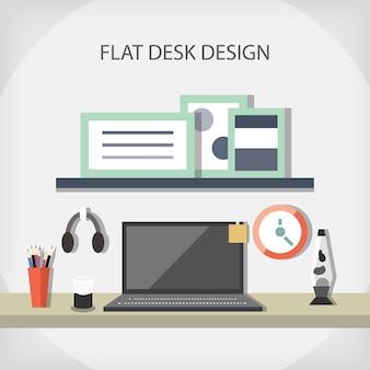Flat desk design
