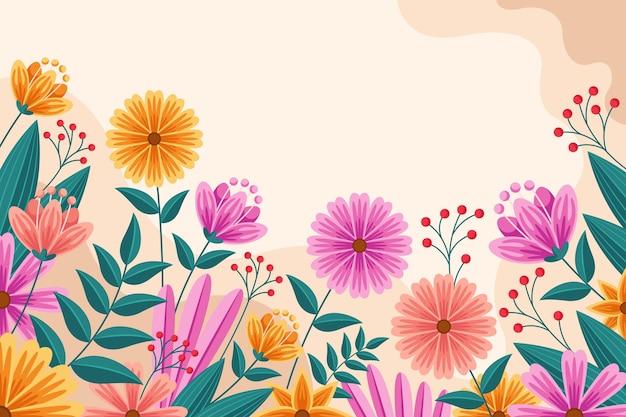 Плоский подробный весенний фон