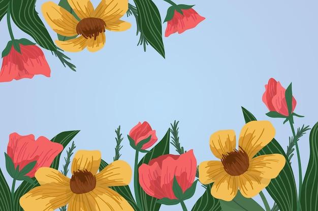 フラットな詳細な春の背景