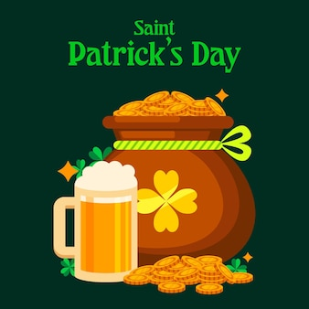 Flat detailed st. patrick's day