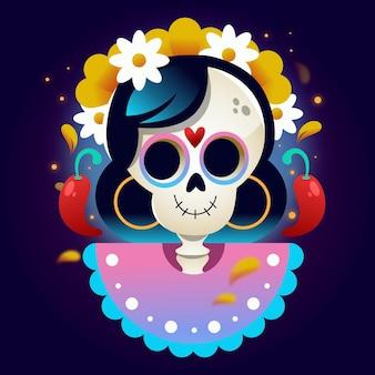 Flat dia de muertos illustration