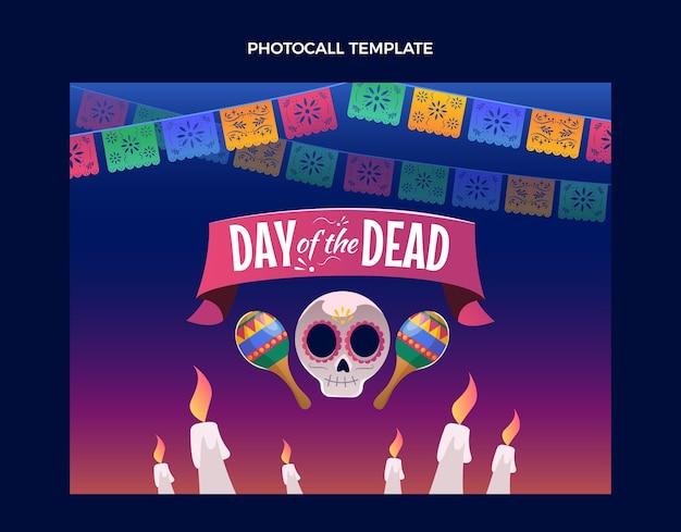Modello di photocall piatto dia de muertos
