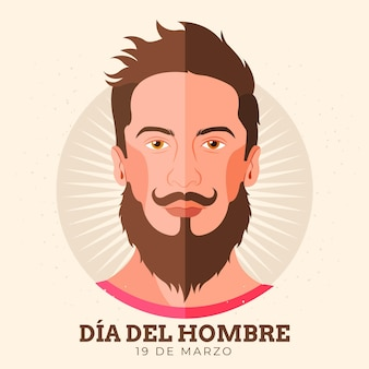 Flat dia del hombre celebration illustration