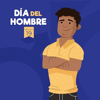 Flat dia del hombre illustration Free Vector