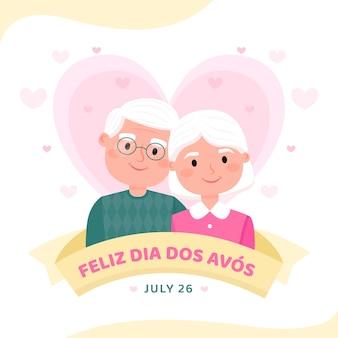 Плоская иллюстрация dia dos avos
