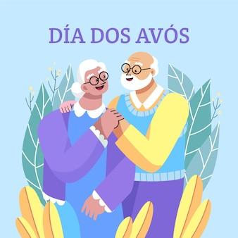 Flat dia dos avos illustration