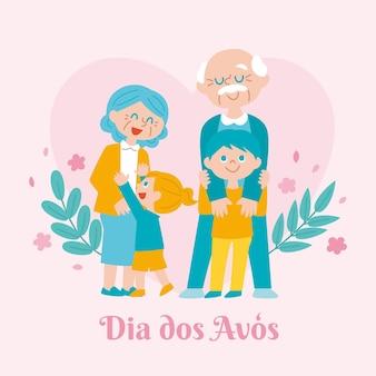 Piatto dia dos avos illustrazione