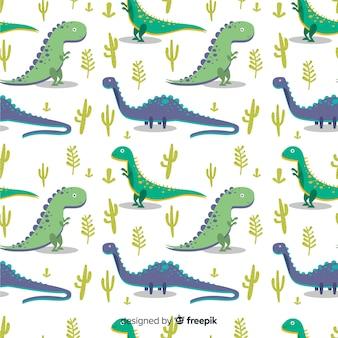 Flat dinosaur pattern