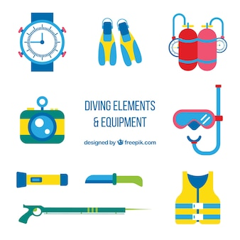 Flat diving accessories pack