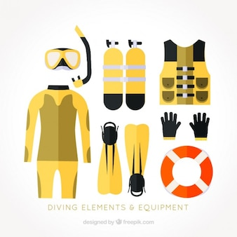Flat diving accessories