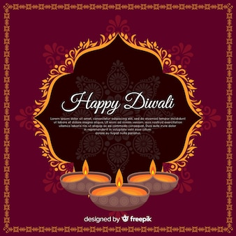 Flat diwali background