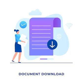Концепция загрузки плоских документов.