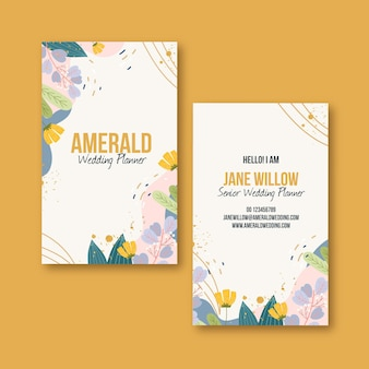 Flat double-sided business card