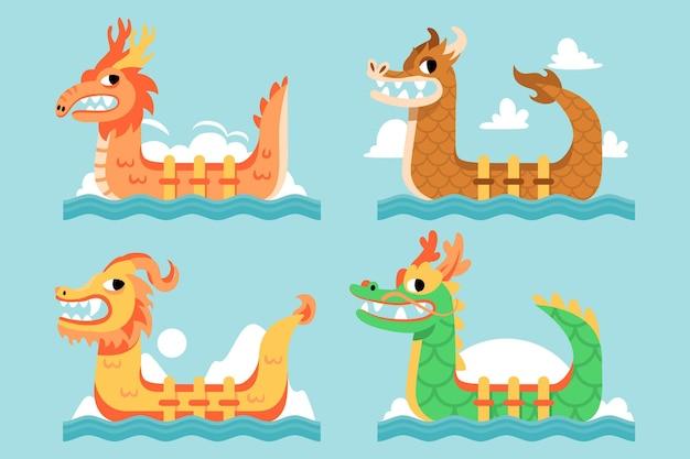 フラットドラゴンボートコレクション