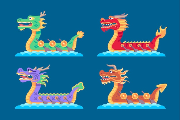 Flat dragon boat collection