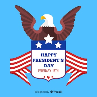 Flat eagle president day background