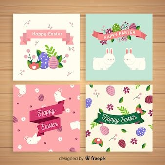 Flat easter card pack