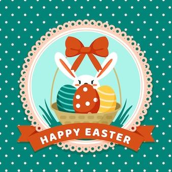 Плоская иллюстрация празднования пасхи