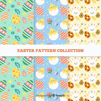 Flat easter day pattern