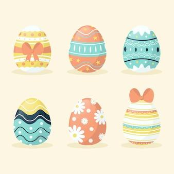 플랫 부활절 달걀 컬렉션