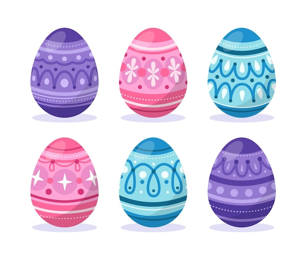 Коллекция плоских пасхальных яиц