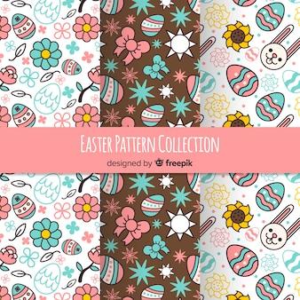 플랫 부활절 패턴 컬렉션