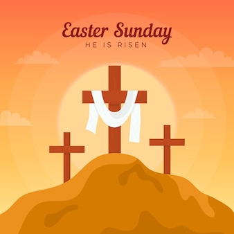 Flat easter sunday illustration