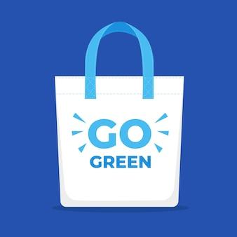 Flat eco friendly fabric bag