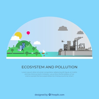 Flat ecosystem and pollution design