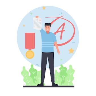 Flat education vector illustration.