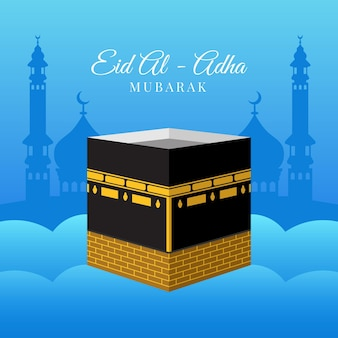 Flat eid al-adha illustration