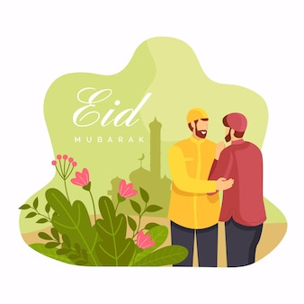 Flat eid al-fitr illustration