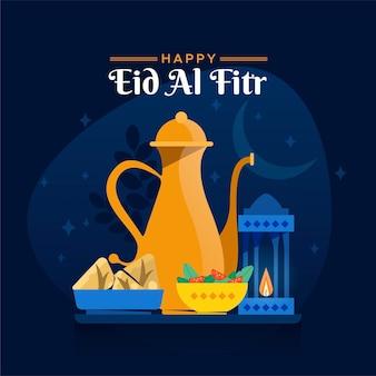 Плоский ид аль-фитр иллюстрация