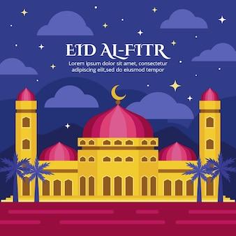 Illustrazione di eid al-fitr piatta