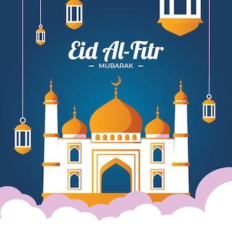 Flat eid al-fitr 일러스트