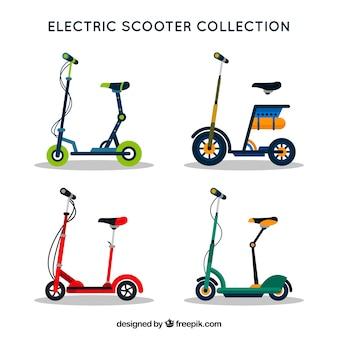 Набор плоских электрических скутеров Бесплатные векторы